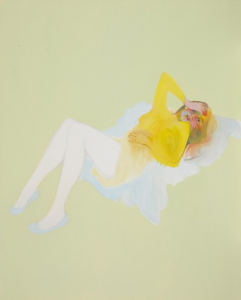 I can feel myself sinking into the ground, 2012, Oil on canvas, 150 x 120cm
